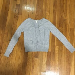 Grey button up cardigan size XS